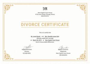 divorce certificate translation